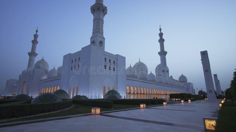 扎耶德Grand Mosque回教族长是六个最大的清真寺之一在世界上 库存图片
