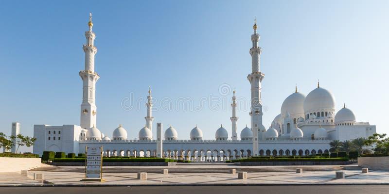 扎耶德Grand Mosque回教族长 免版税库存照片
