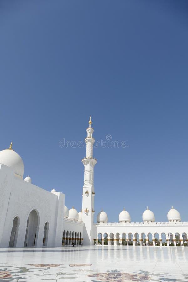 扎耶德Grand Mosque阿布扎比, U回教族长 A e 库存照片