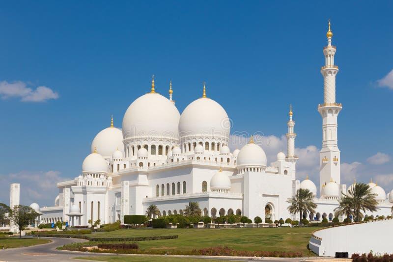 扎耶德Grand Mosque,阿布扎比,阿联酋回教族长 库存照片