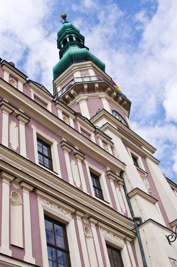扎莫希奇波兰,建筑学7月2019年,老镇 免版税库存照片