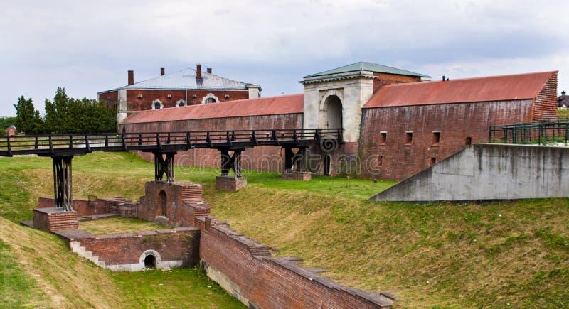 扎莫希奇波兰:一个历史建筑命名了Nowa布罗莫Lubelska 免版税库存图片
