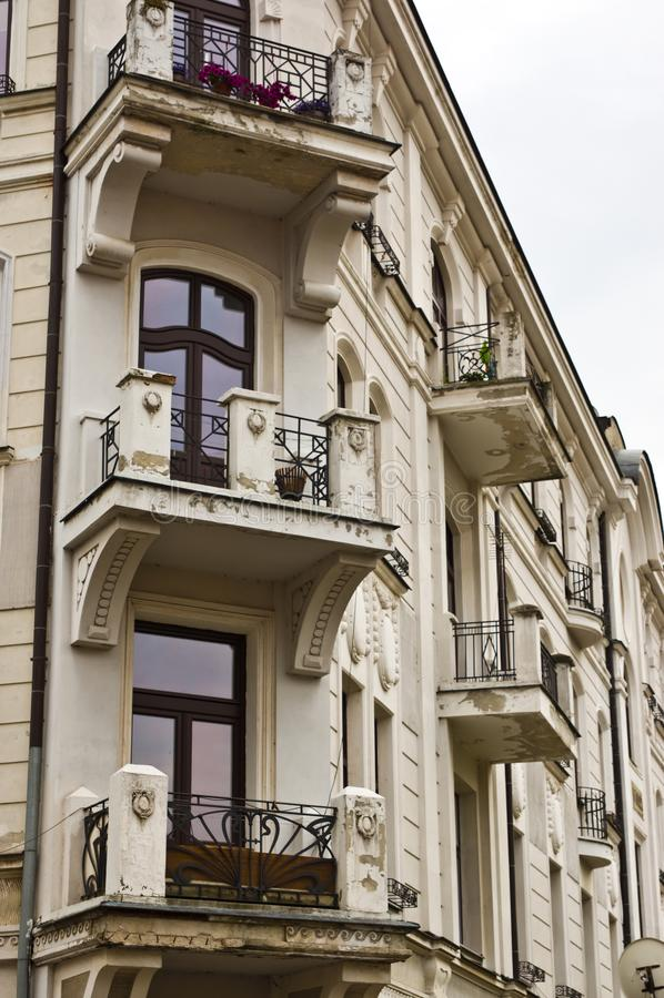 扎莫希奇波兰:一个历史建筑角落 库存图片