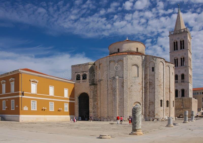 扎达尔克罗地亚St多纳特教会 免版税库存图片