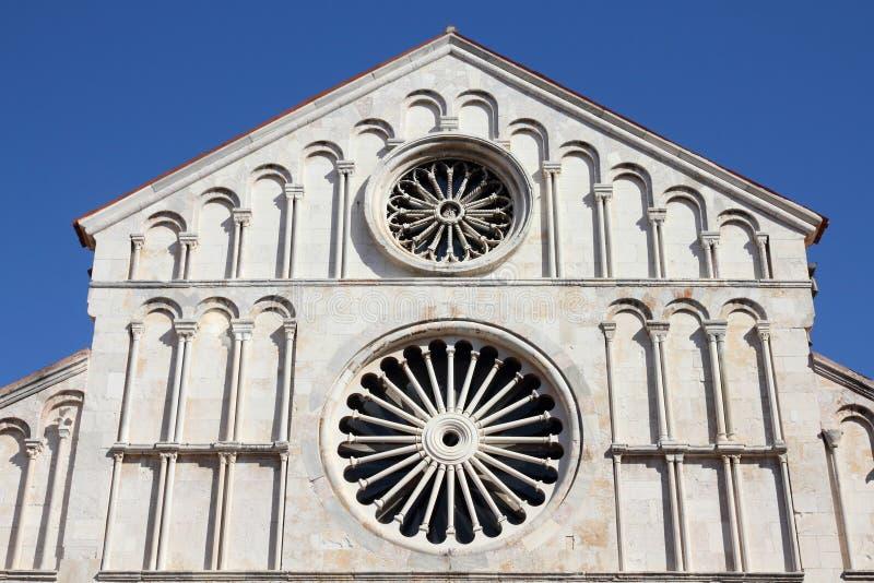 扎达尔大教堂 免版税库存照片