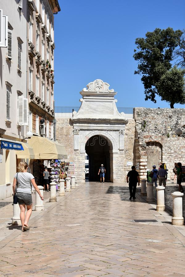 扎达尔市墙壁 免版税库存照片