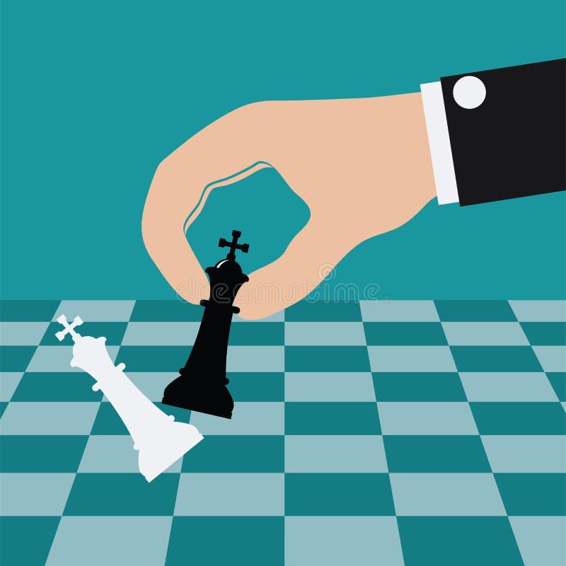 打下棋比赛的传染媒介例证 皇族释放例证