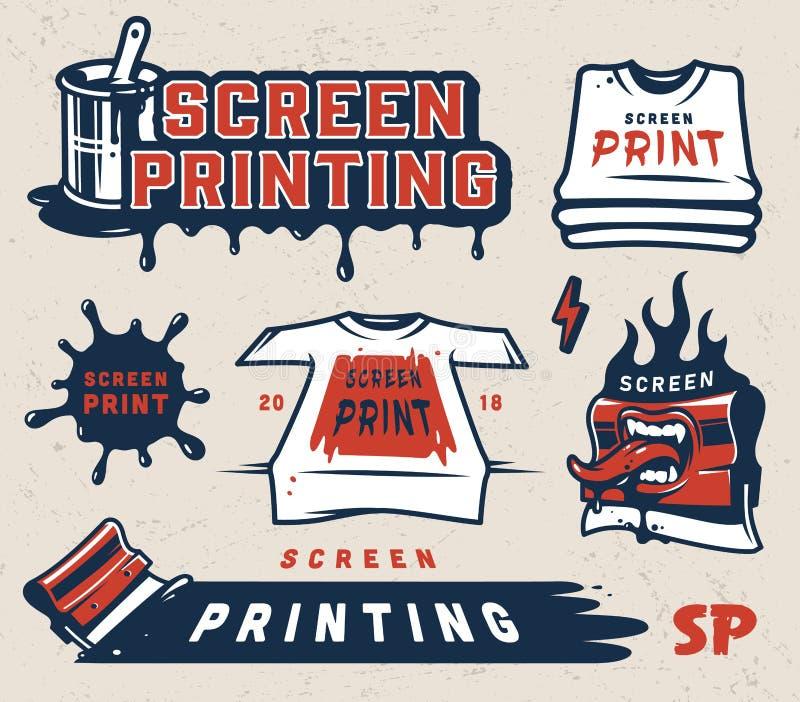 打印五颜六色的概念的屏幕 向量例证