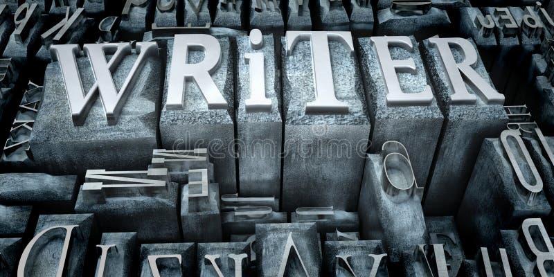 打印作家 向量例证