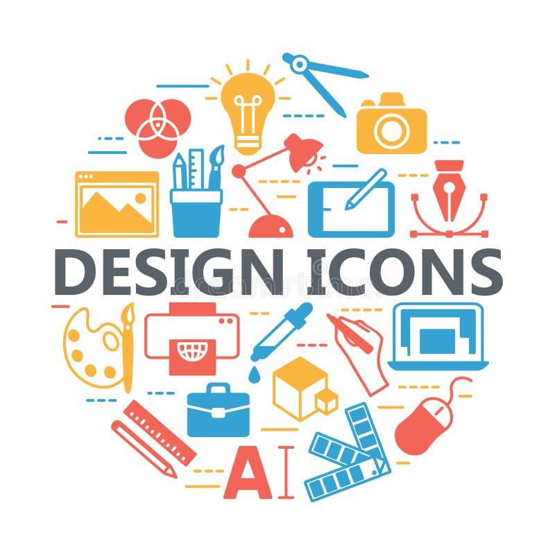 打印和图形设计象 库存例证