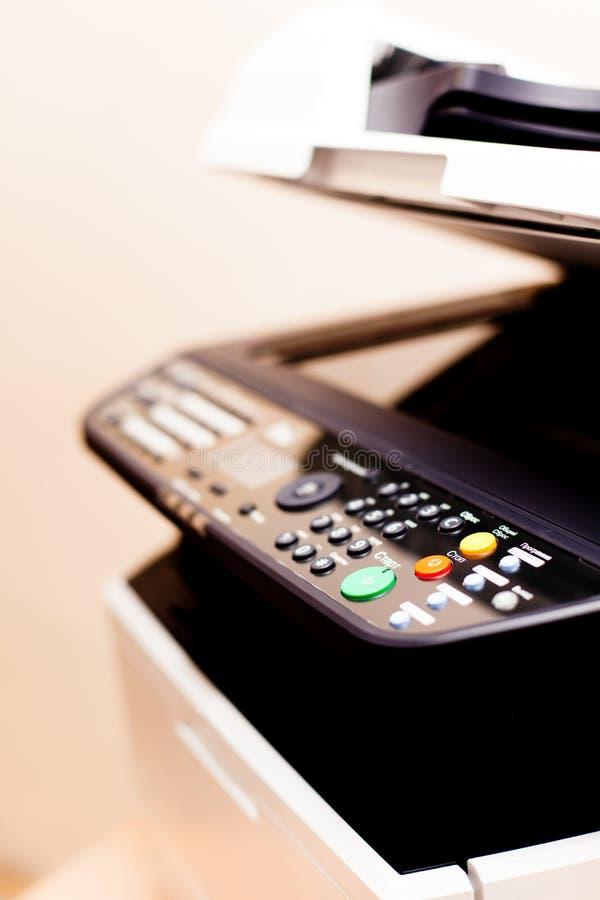 打印机准备好影印件 免版税库存图片