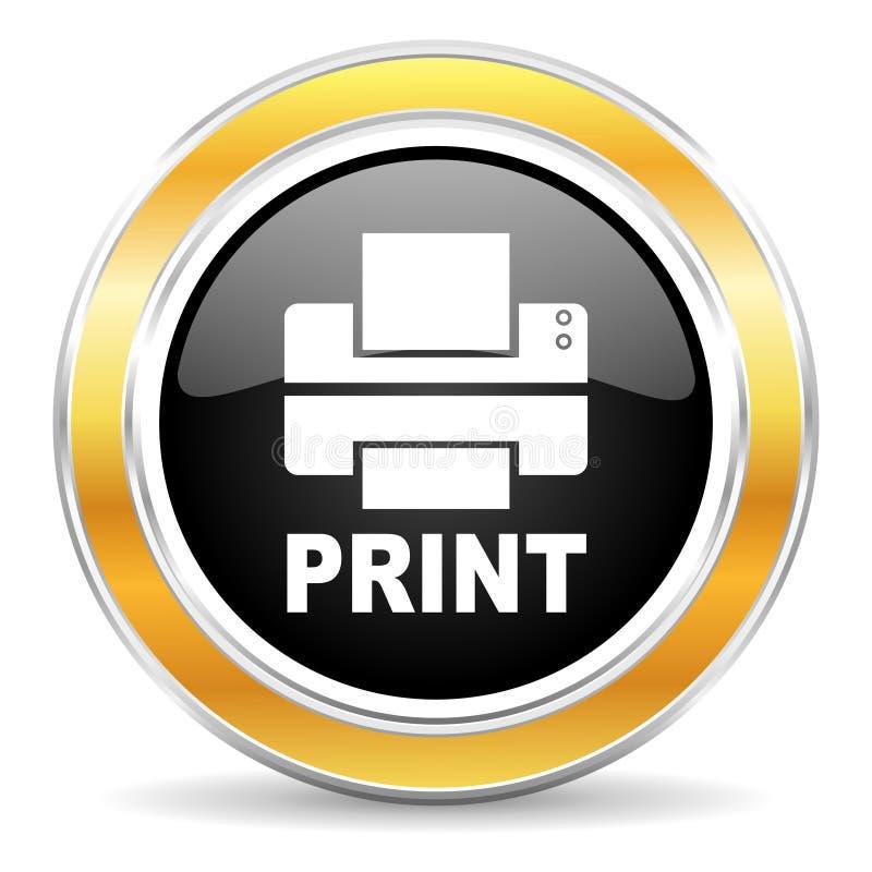 打印机图标 库存照片