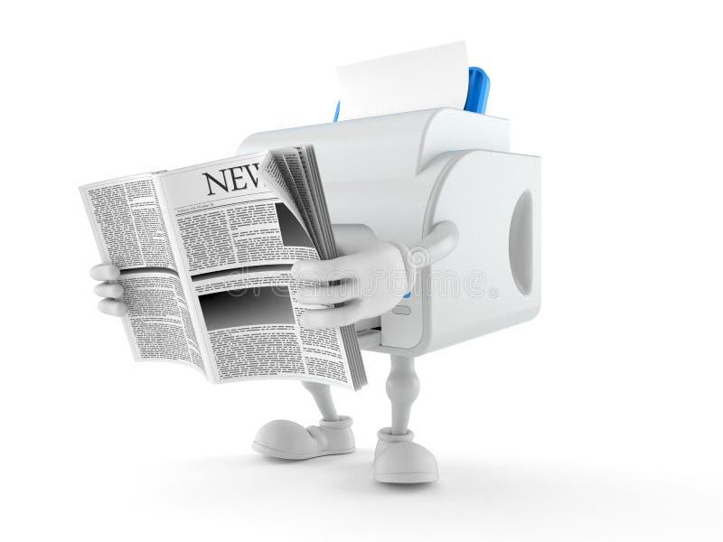 打印机字符读书报纸 皇族释放例证
