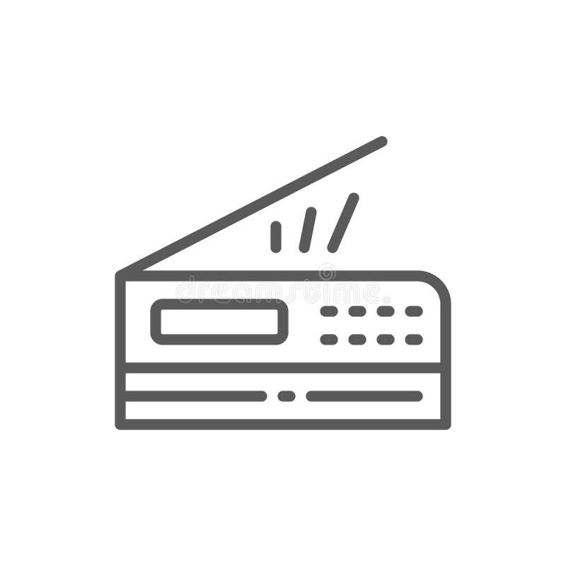 打印机,扫描器,影印机线象 库存例证