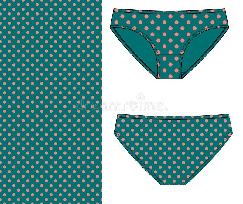 打印的妇女内衣裤子 皇族释放例证