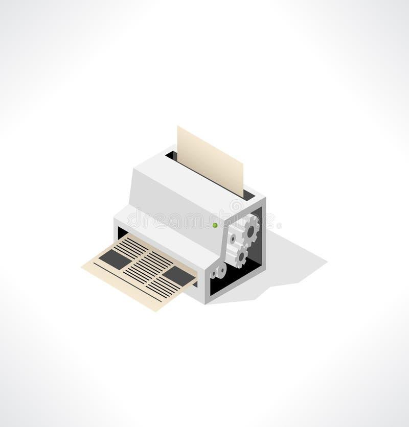 打印的报纸大打印机织品。 向量例证