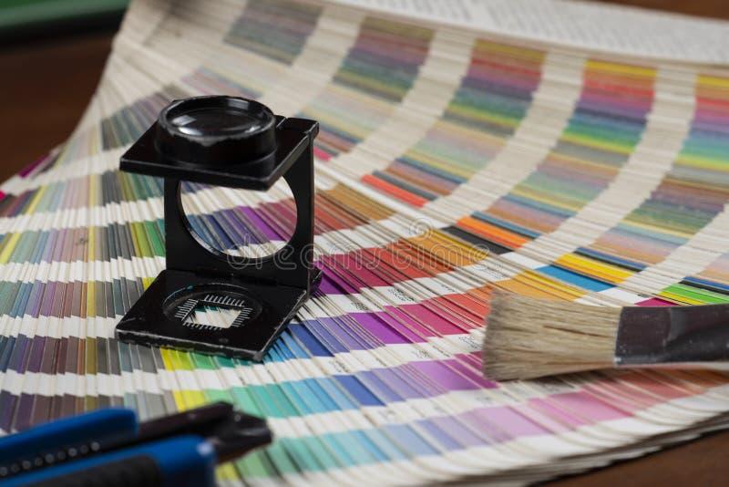 打印的颜色样片 免版税库存照片