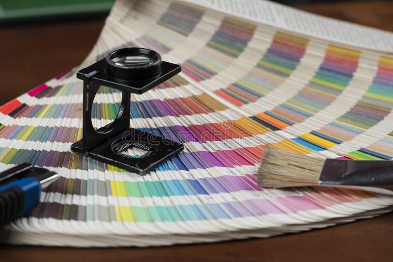 打印的颜色样片 图库摄影