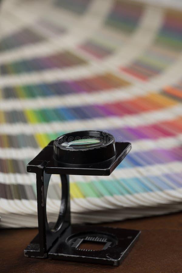 打印的颜色样片 库存图片