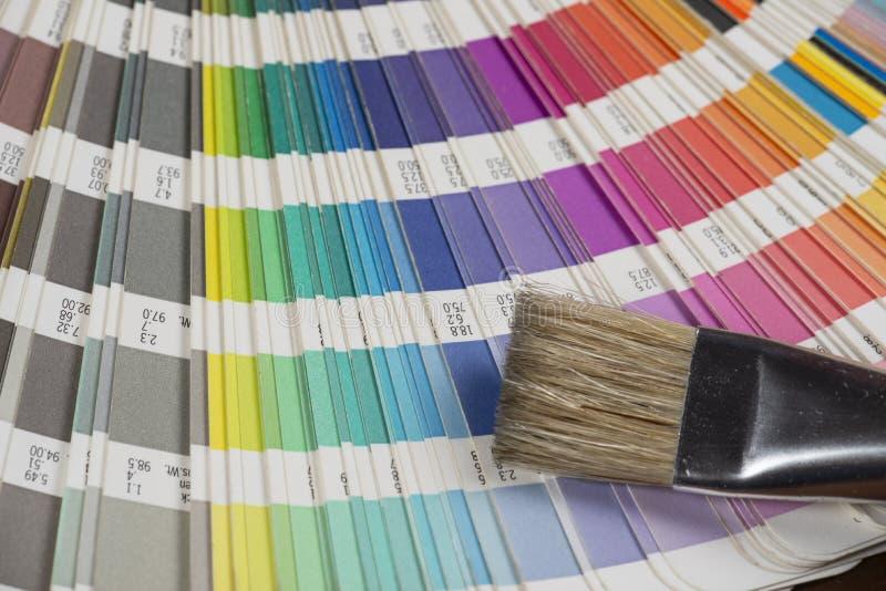 打印的颜色样片 免版税库存图片
