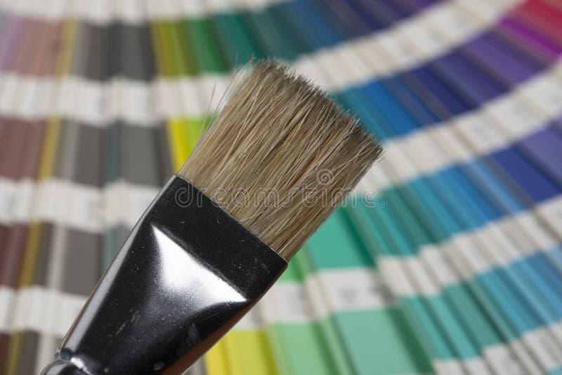 打印的颜色样片 库存照片