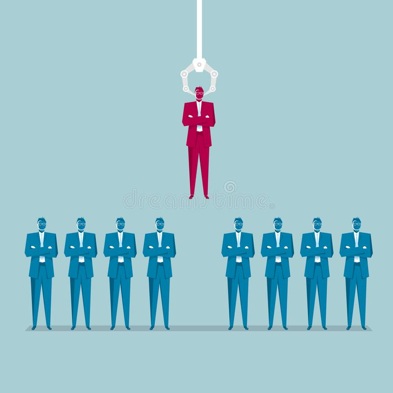A businessman who stands out. royalty free illustration