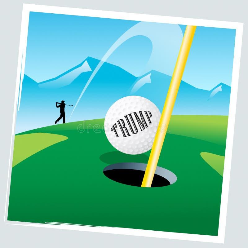 打在休闲路线的王牌高尔夫球赛-第2个例证 向量例证