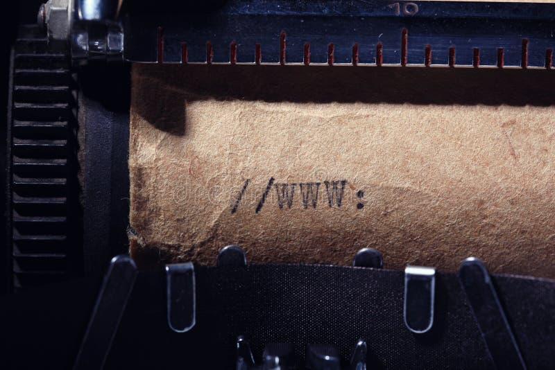 打字机做的葡萄酒题字 库存照片