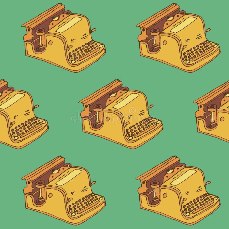 打字机无缝的样式 库存照片