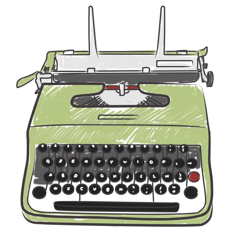 打字机葡萄酒 皇族释放例证