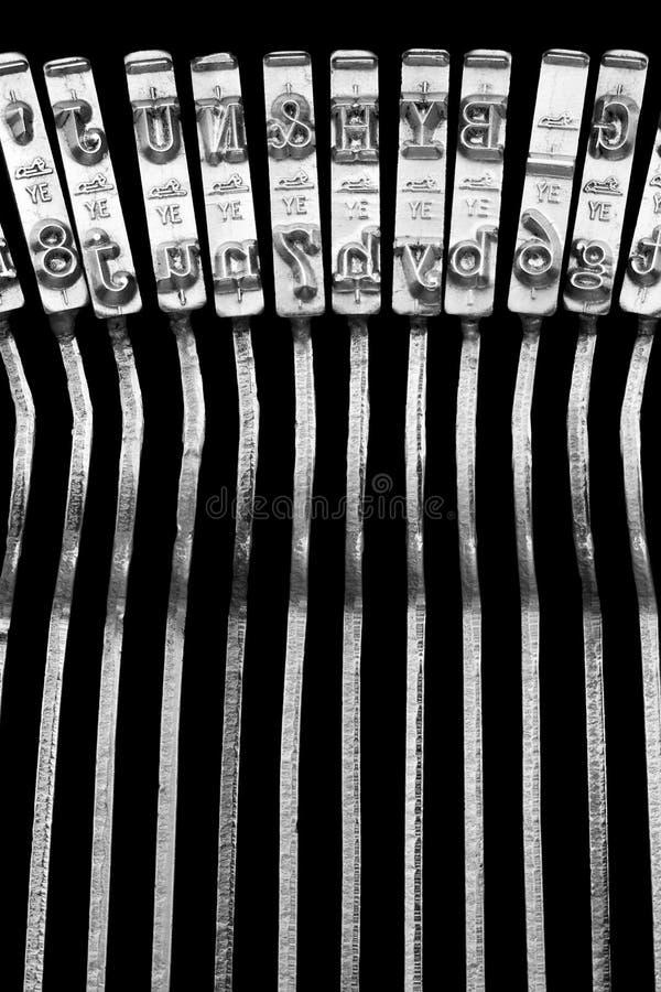 打字机连动杆 库存图片