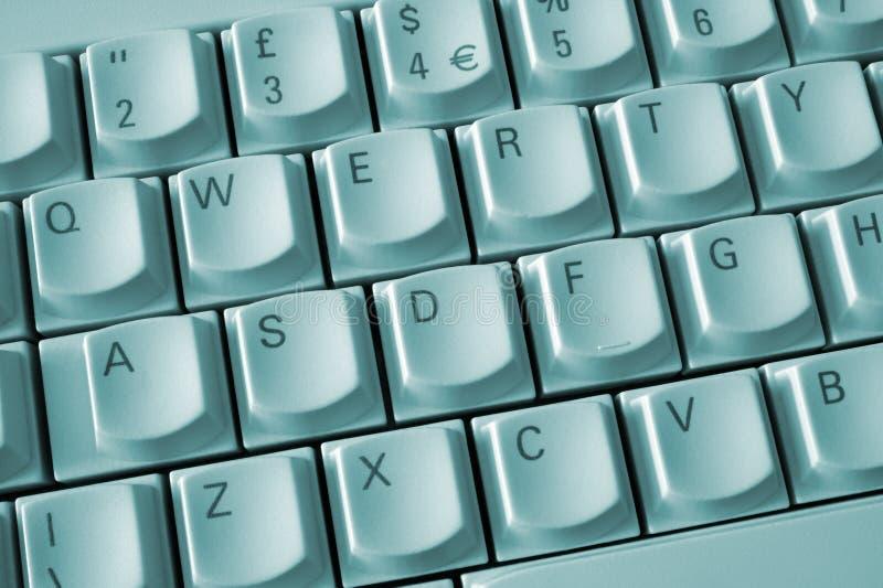 打字机键盘新鲜的关键董事会 库存图片