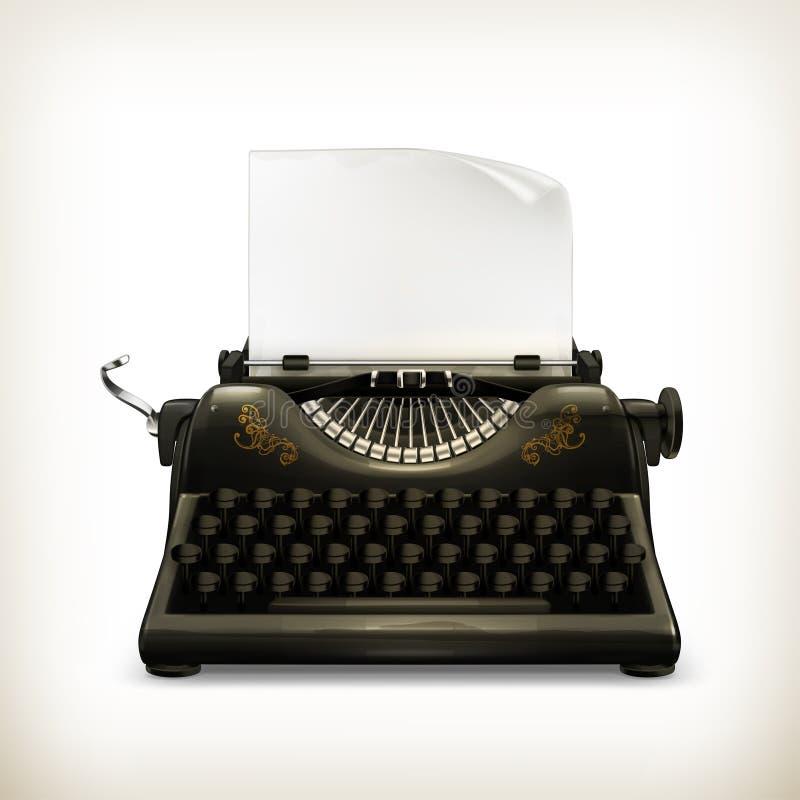 打字机 向量例证