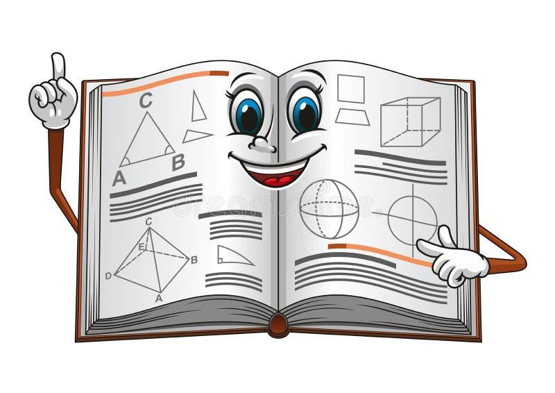 打开与几何形状动画片的课本 库存例证