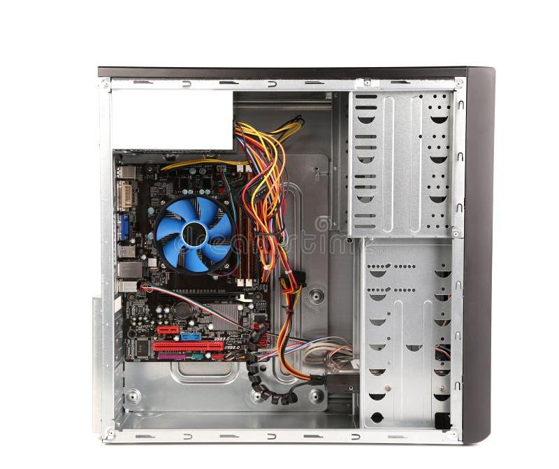 打开个人计算机计算机案件 免版税库存照片