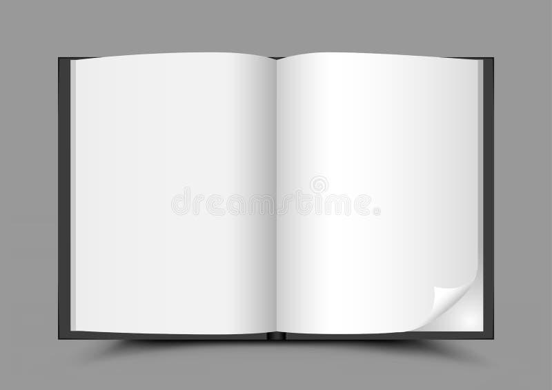 打开书灰色背景 向量例证