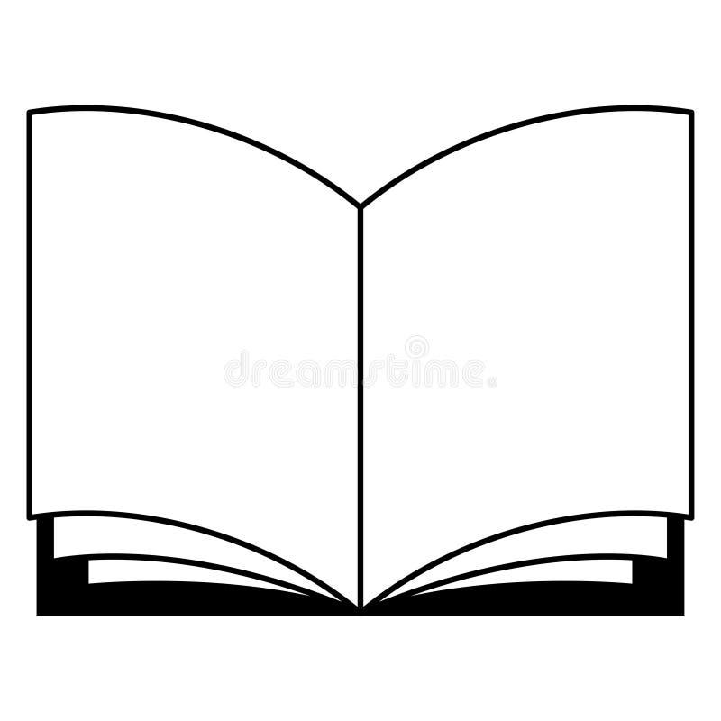 打开书黑白象 皇族释放例证