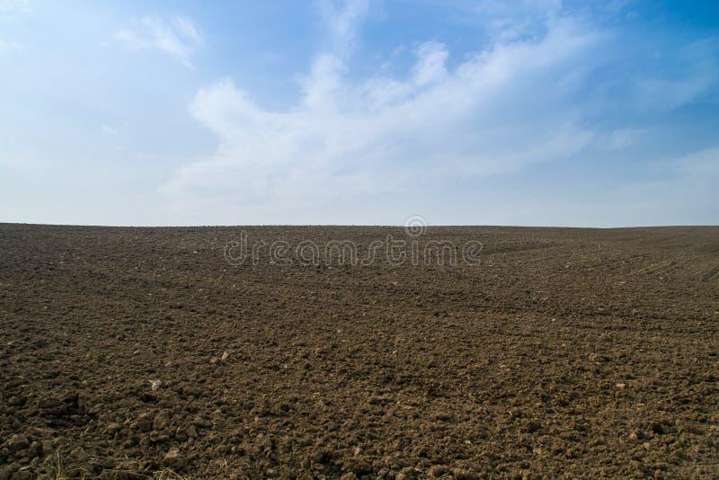 打开土农田。 图库摄影