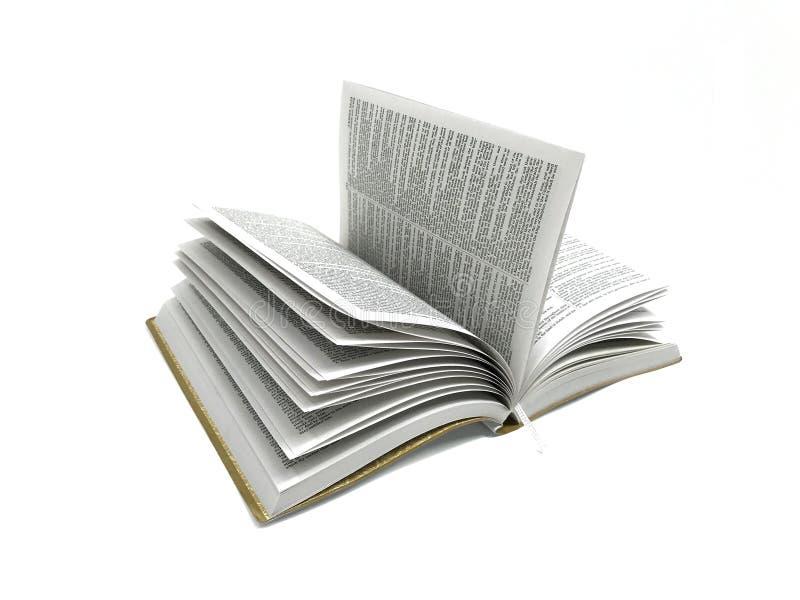 打开在白色背景照片图象的书圣经 免版税图库摄影