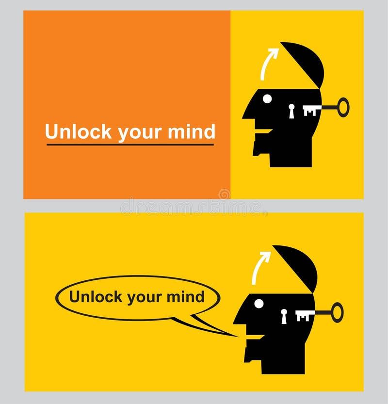 打开您的头脑 潜在打开您 皇族释放例证