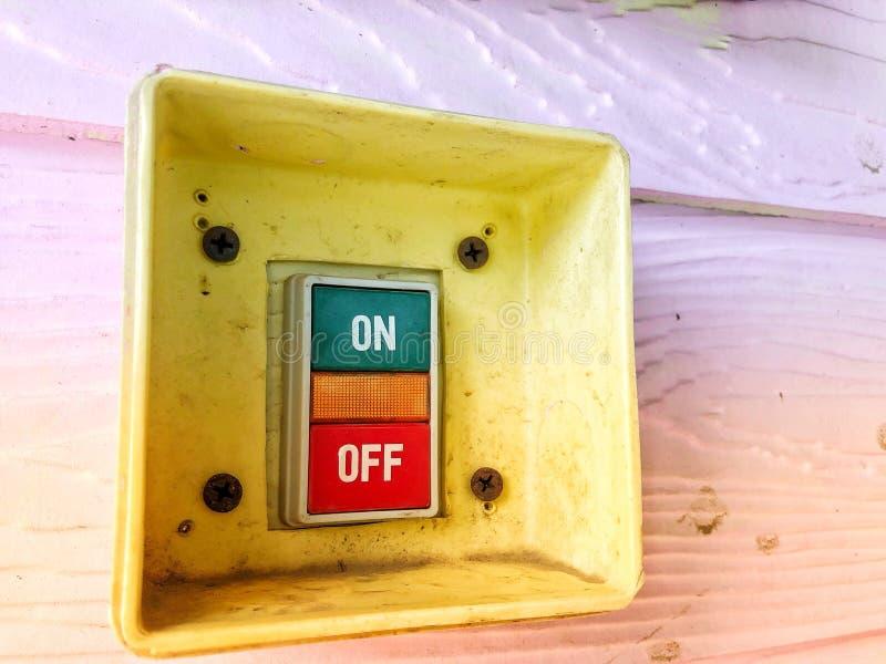 打开或关闭电源,保存方式概念 免版税库存图片