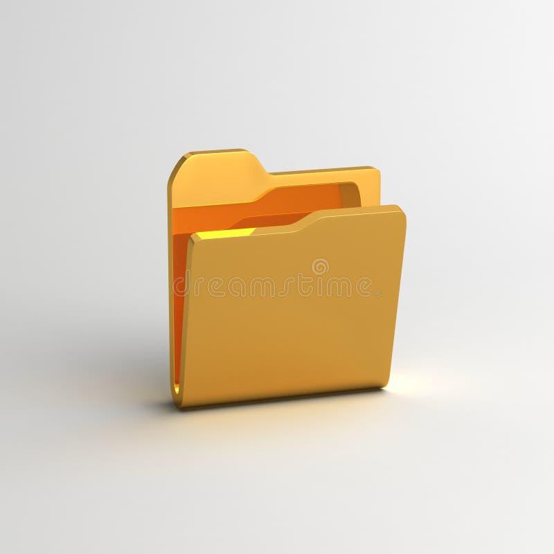打开文件夹标志 库存例证