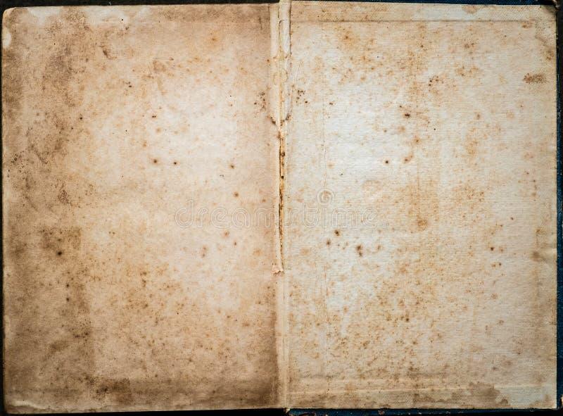 打开旧书空白 库存图片