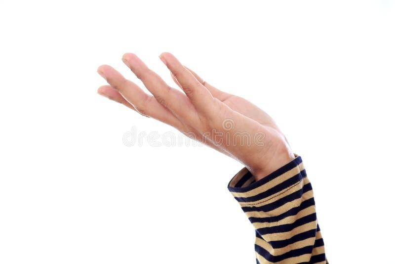 打开棕榈女性手手势 库存图片