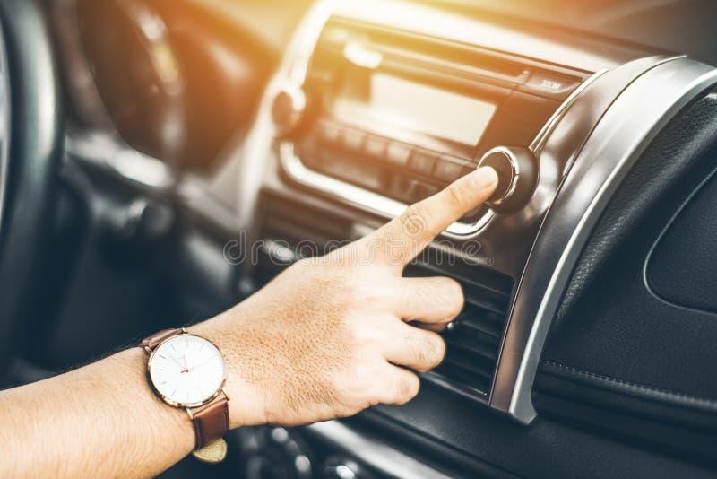 打开汽车空调系统 图库摄影