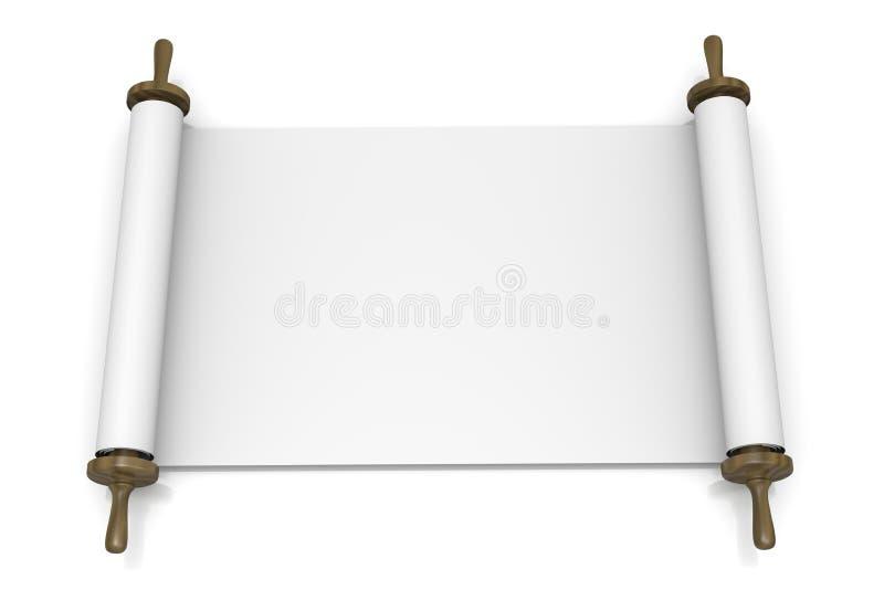 打开空白的纸卷 皇族释放例证