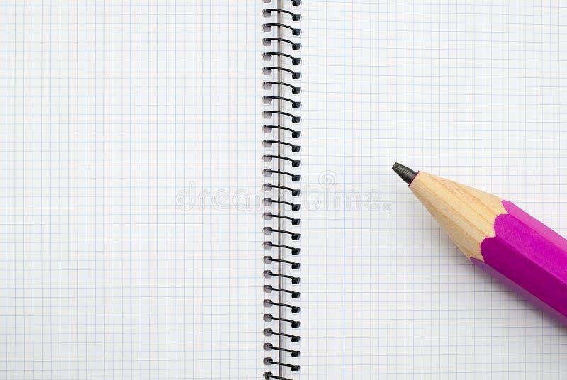 打开螺纹笔记本 免版税库存照片