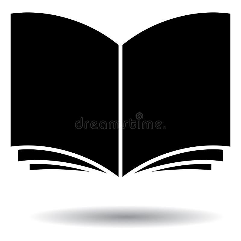 打开黑白书的剪影 皇族释放例证