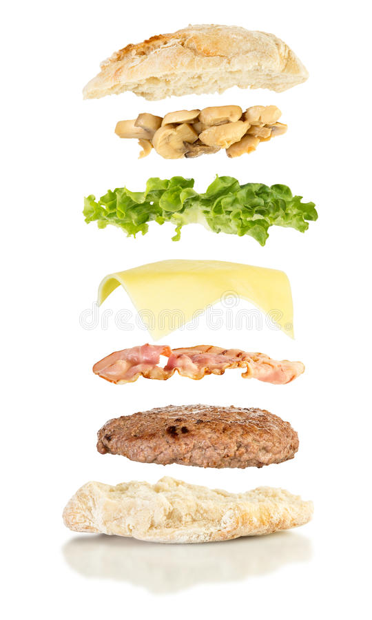 Download 打开buger升空 库存照片. 图片 包括有 分开, 垂直, 概念, 三明治, 汉堡包, 工作室, 莴苣 - 72369288