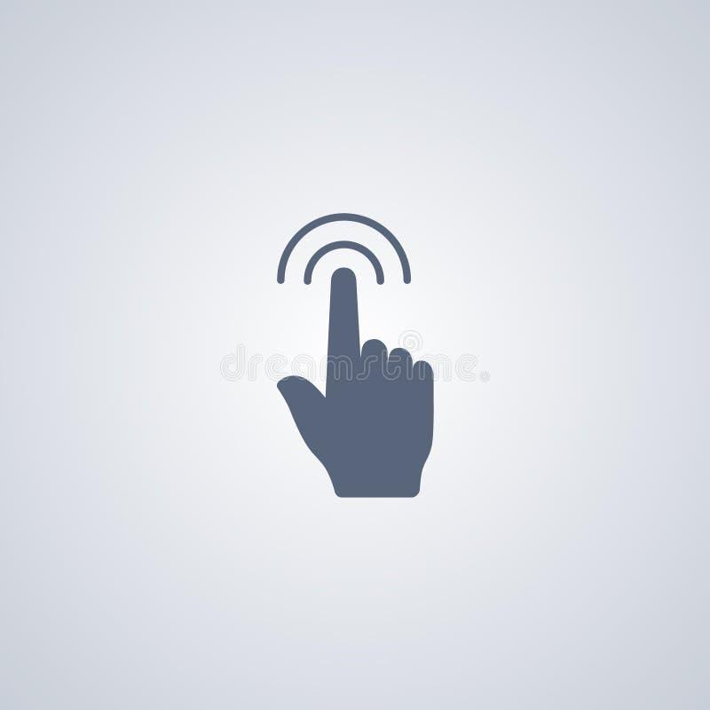打手势接触双击,传染媒介最佳的平的象 向量例证
